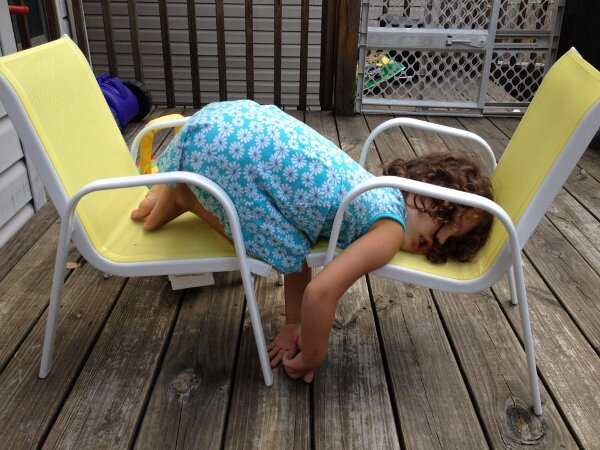 Little-Girl-Funny-Sleeping-On-Chair